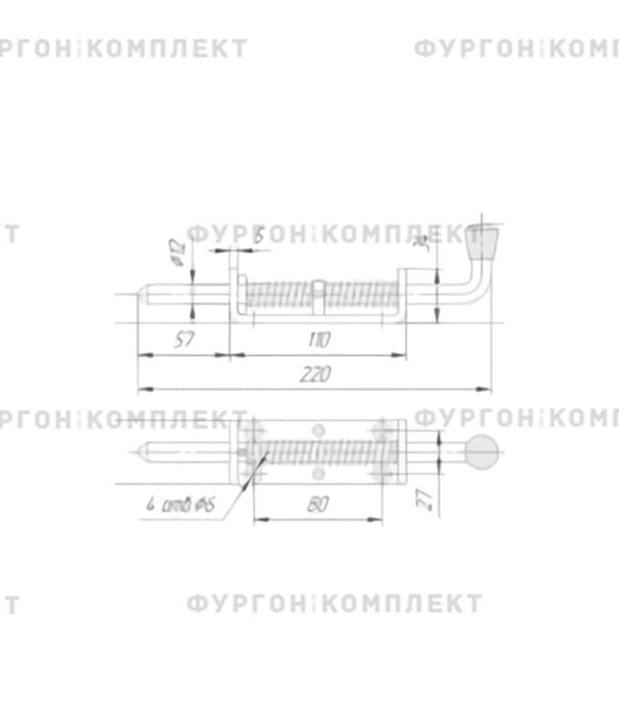 Фиксатор двери пружинный (размер 220 мм)