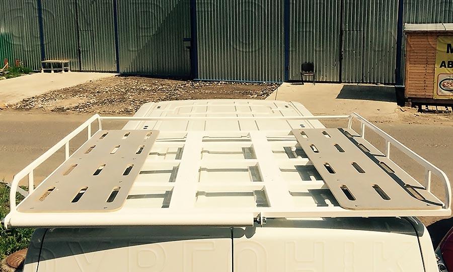 Багажники из окрашенной стали L3H2 (усиленный): Настилы для багажника на крышу фургона