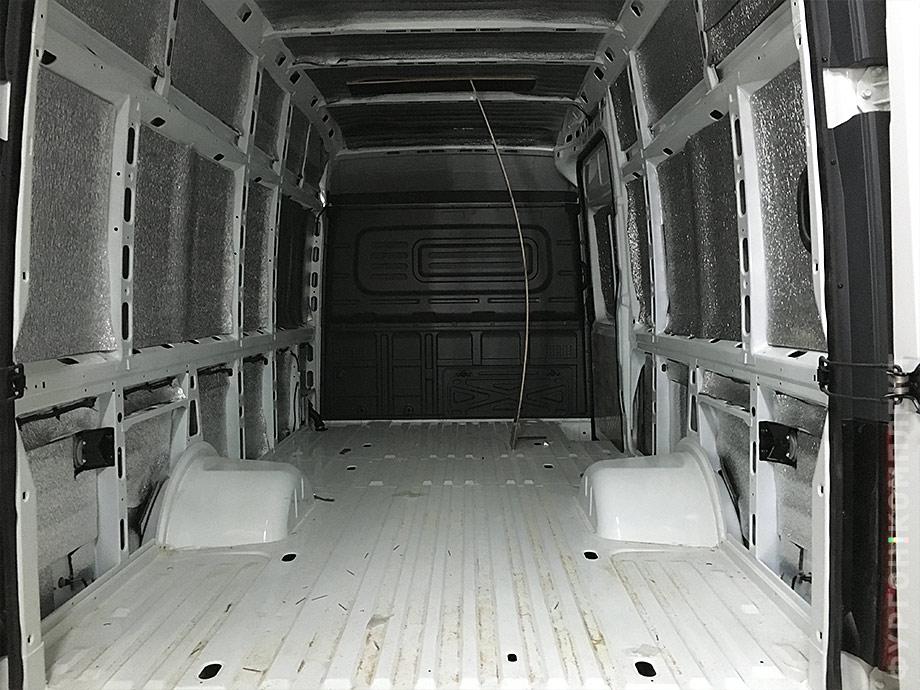 Подготовка Газели Next к обшивке грузового отсека