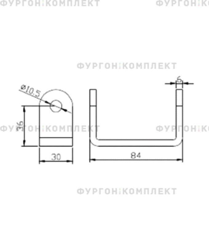 Петля заднего портала (длина 255 мм)