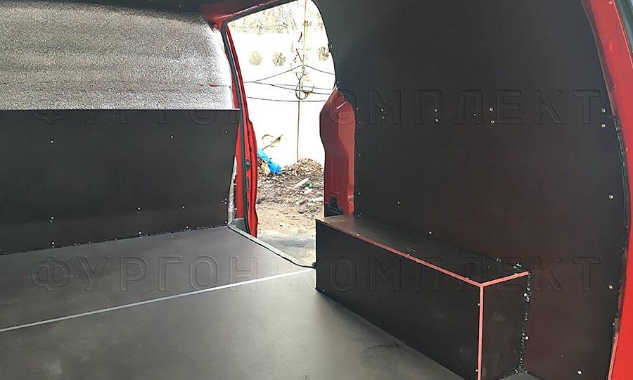 Обшивка фургона Hyundai Starex (H-1) L1H1: Пол, арки, стены и перегородка