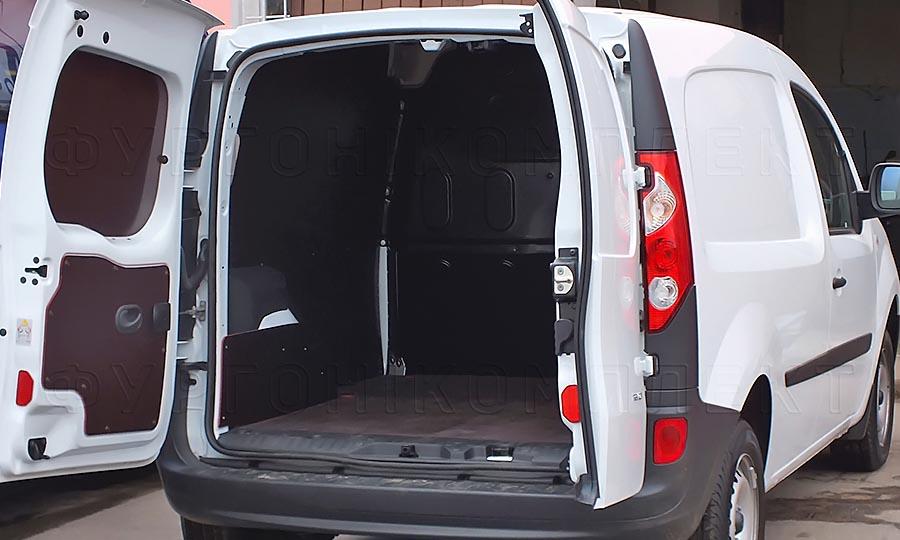 Обшивка фургона Renault Kangoo L1H1: Пол, двери и арки