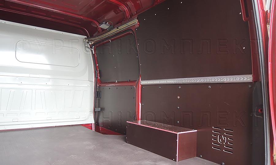 Обшивка фургона ГАЗ 2752 Соболь L1H1: Пол, стены, арки и боковая дверь