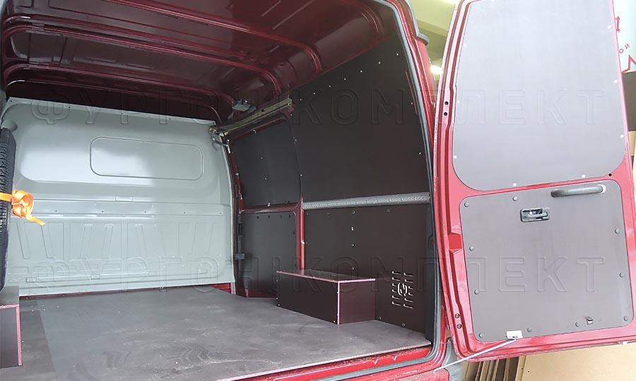 Обшивка фургона ГАЗ 2752 Соболь L1H1: Пол, стены, арки и двери