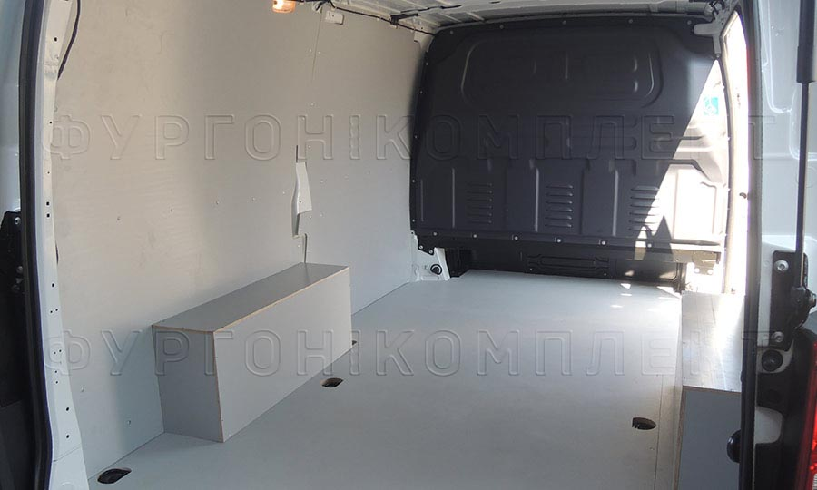 Обшивка фургона Mercedes-Benz Vito L1H1: Пол, стены и арки