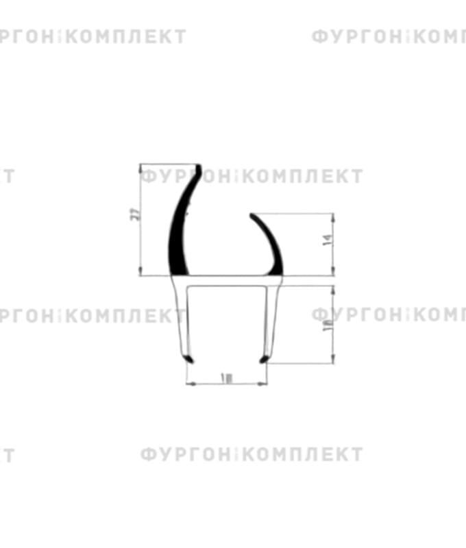 Уплотнитель резино-пластиковый (размер 18 мм)