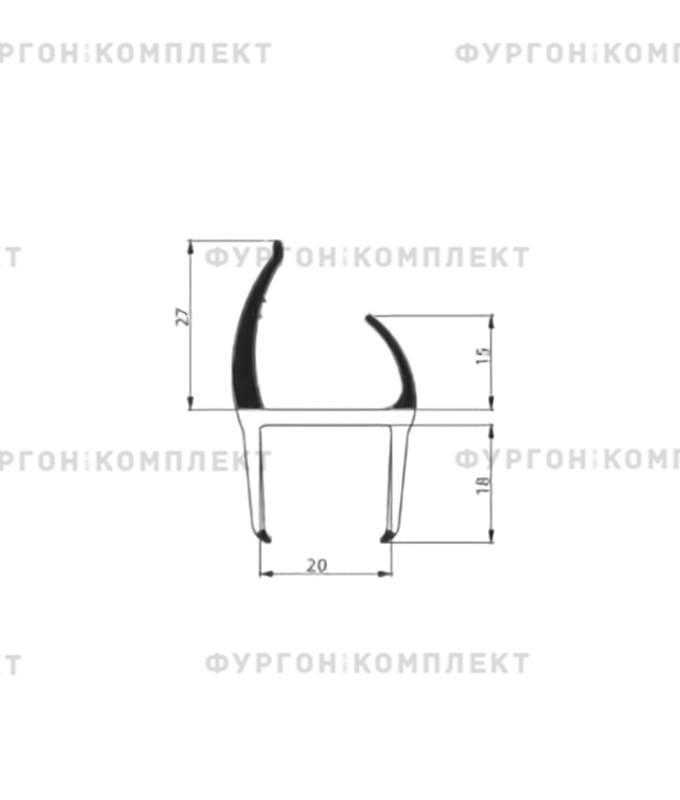 Уплотнитель резино-пластиковый (размер 20 мм)