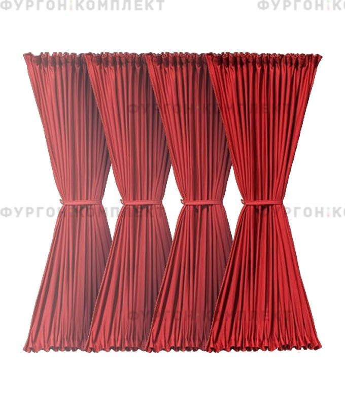 Комплект шторок бордовый