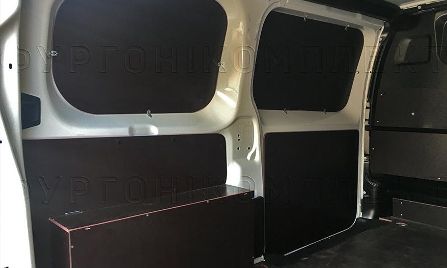 Обшивка фургона Citroën Jumpy L2H1: Стены и арки