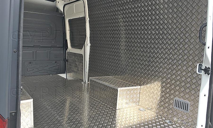 Обшивка фургона Газель Next L3H3: Стены, пол, арки и боковая дверь