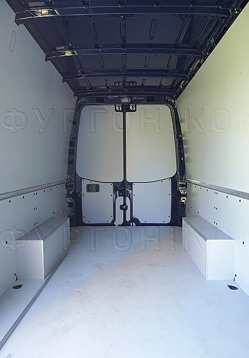 Обшивка фургона Mercedes-Benz Sprinter L3H2: Стены, пол, арки и задние двери