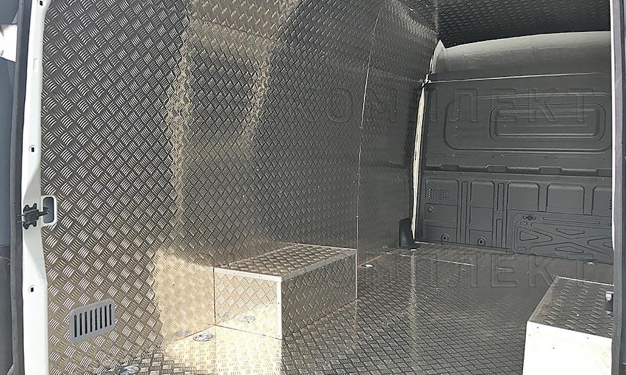Обшивка фургона Газель Next L3H3: Стены, пол и арки