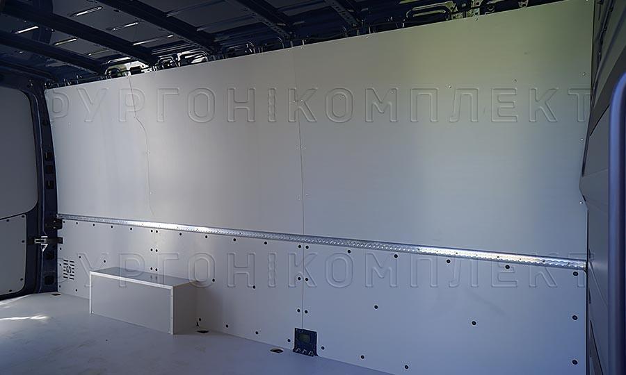 Обшивка фургона Mercedes-Benz Sprinter L3H2: Стены, пол и арки