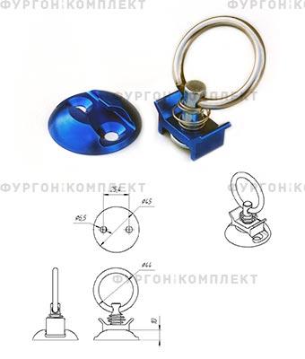 Такелажное кольцо ТКА003 (для алюминиевой рейки)