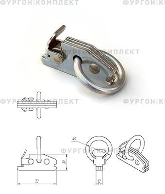 Такелажное кольцо ТКС002 (для стальной рейки)