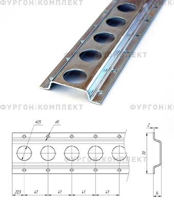 Стальная рейка ТРС70-2 (длина 3 метра)