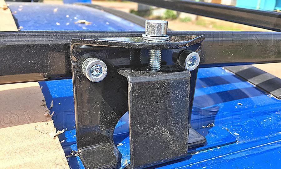 Багажники из окрашенной стали L1H1: Вид сбоку (крупный план)