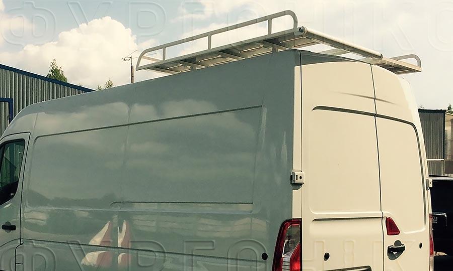 Багажники из окрашенной стали L3H2 (усиленный): Вид сбоку сзади
