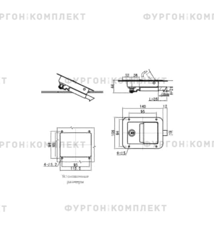 Замок клавишный универсальный (140 мм)