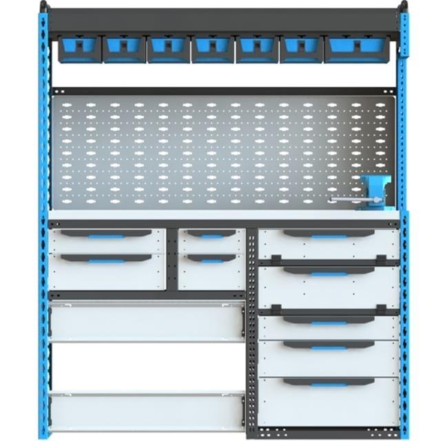 Стеллажи для Ford TransitVII (2014 - н.в.). Блок Ford 2Б L2H2 1500x1780x500 F