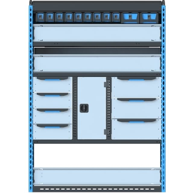 Стеллажи для Ford TransitVII (2014 - н.в.). Блок Ford L2H2 1300x1830x450 LR