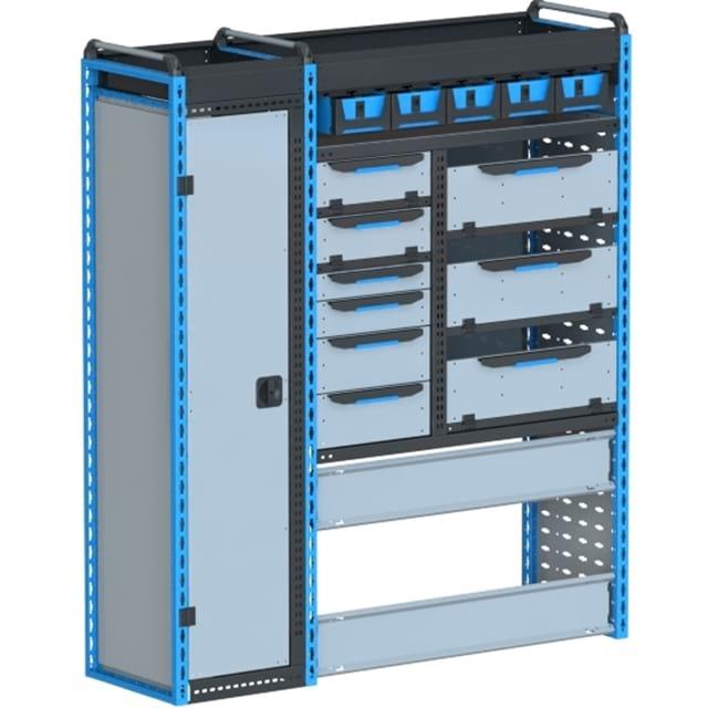 Стеллажи для Ford TransitVII (2014 - н.в.). Блок Ford L2H2 1490x1675x450 F