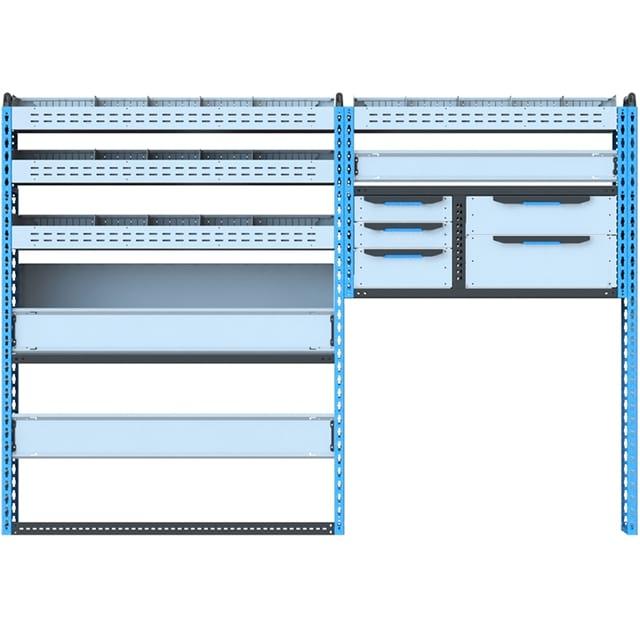 Стеллажи для Ford TransitVII (2014 - н.в.). Блок Ford L2H2 2414x1680x450 L