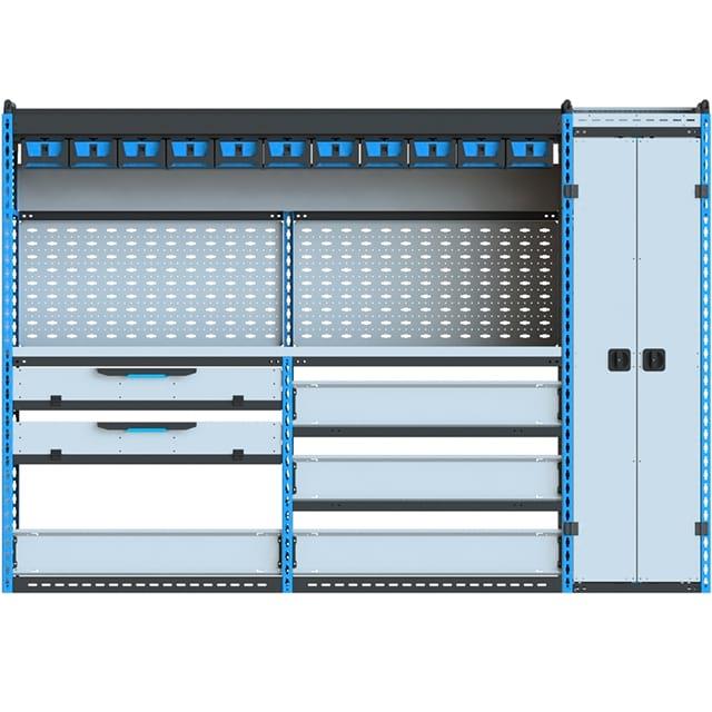 Стеллажи для Ford TransitVII (2014 - н.в.). Блок Ford L2H2 2627x1830x450 L