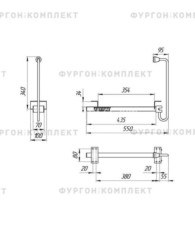 Фиксатор дверной поворотный (из оцинкованной стали)