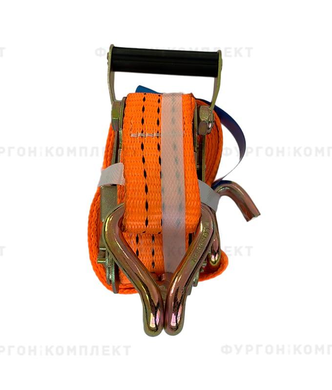 Оранжевый стяжной ремень скрюками (ширина 35мм, до3-6т)