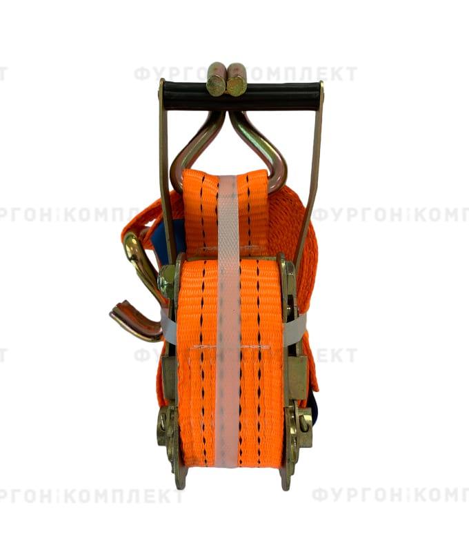 Оранжевый стяжной ремень скрюками (ширина 50мм, до10т)