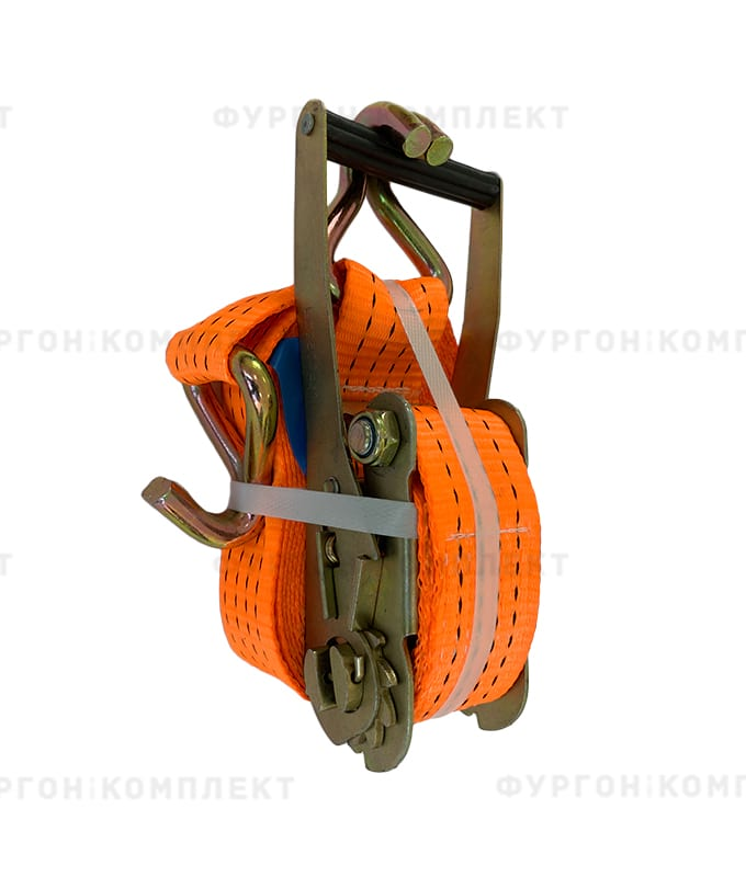 Оранжевый стяжной ремень скрюками