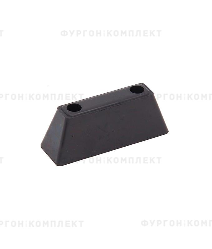 Отбойник прямоугольный → 113×34×40мм, 0.12кг (øотверстий: 7мм)