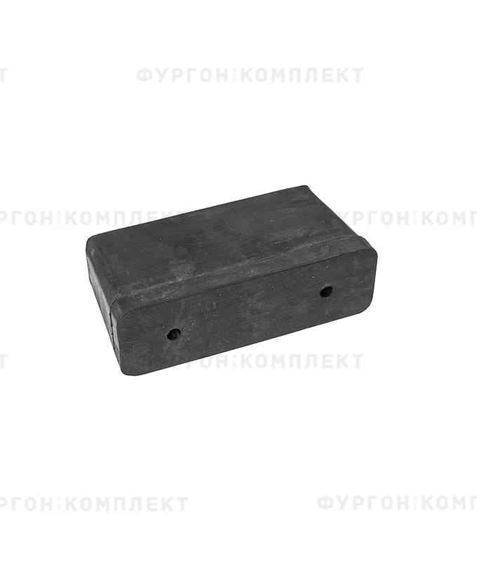 Отбойник прямоугольный → 130×40×70 мм, 0.51кг (øотверстий: 7мм)