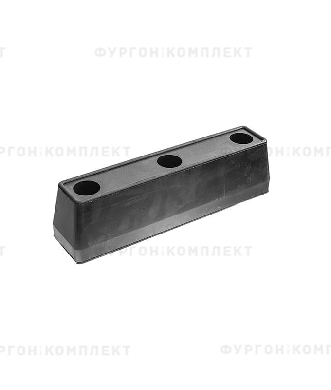 Отбойник прямоугольный → 300×68×82 мм, 1.82кг (øотверстий: 9.8мм)