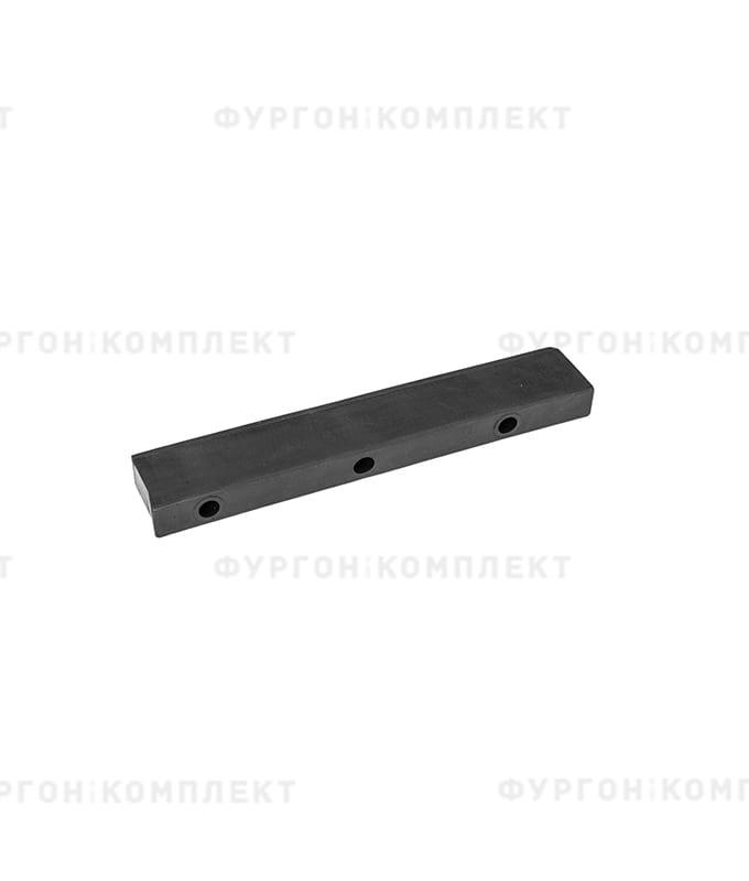 Отбойник прямоугольный → 308×25×55мм, 0.71кг (øотверстий: 9мм)