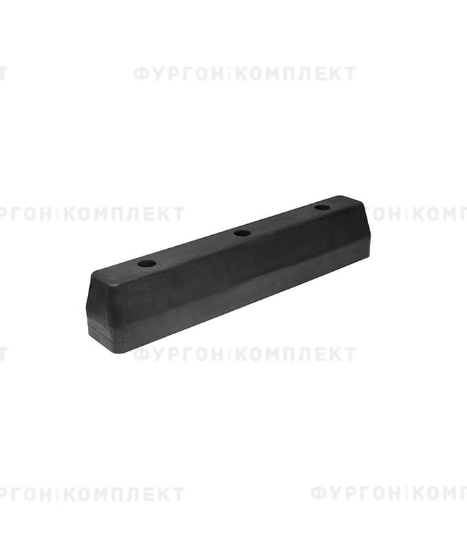 Отбойник прямоугольный → 375×65×70мм, 1.6кг (øотверстий: 10мм)