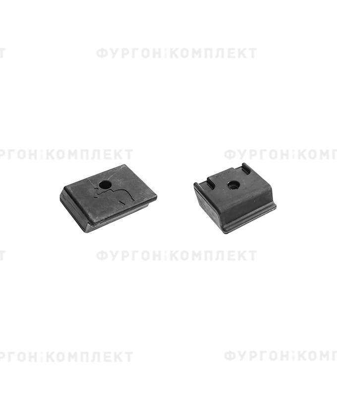 Отбойник прямоугольный → 123×116×49мм, 0.8кг (ø отверстия: 10мм)