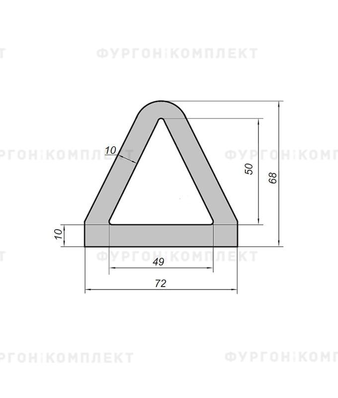 Отбойник жгут (размер 2400×72×68мм)