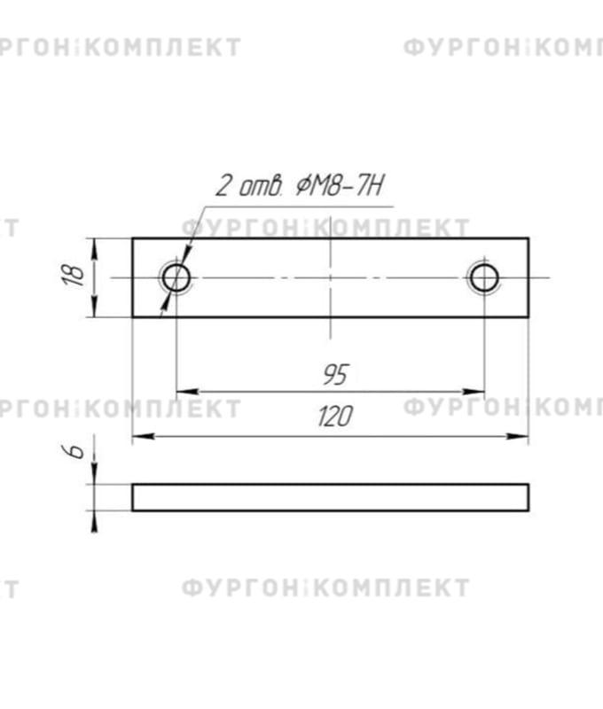 Петля бортовая (длина 120 мм)