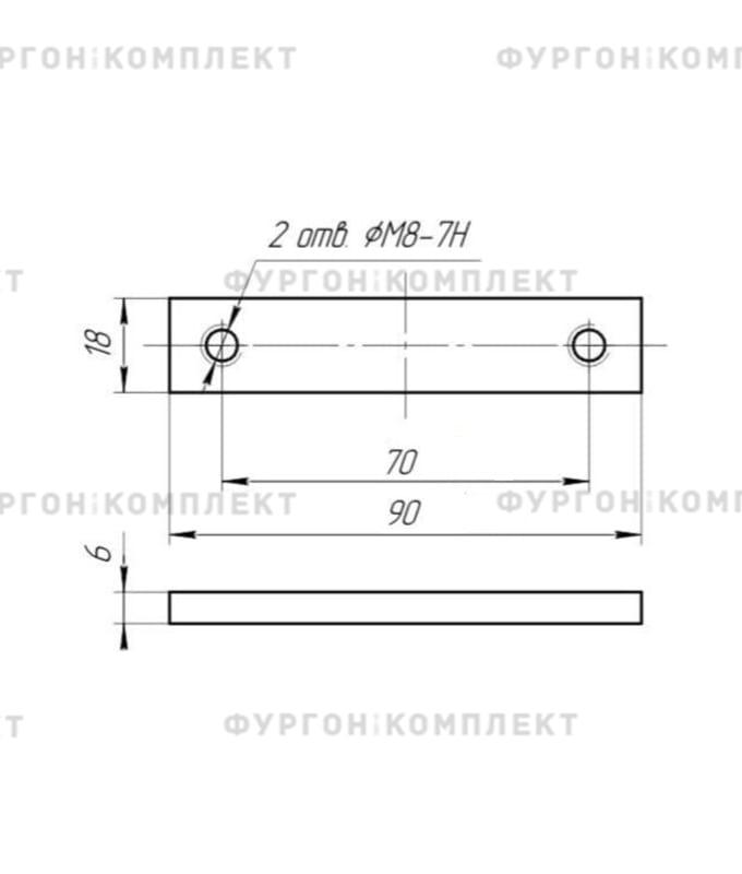 Петля бортовая (длина 90 мм)