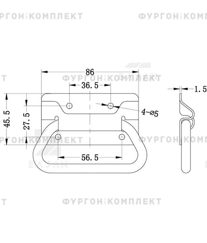 Ручка откидная, подпружиненная (длина 86 мм)