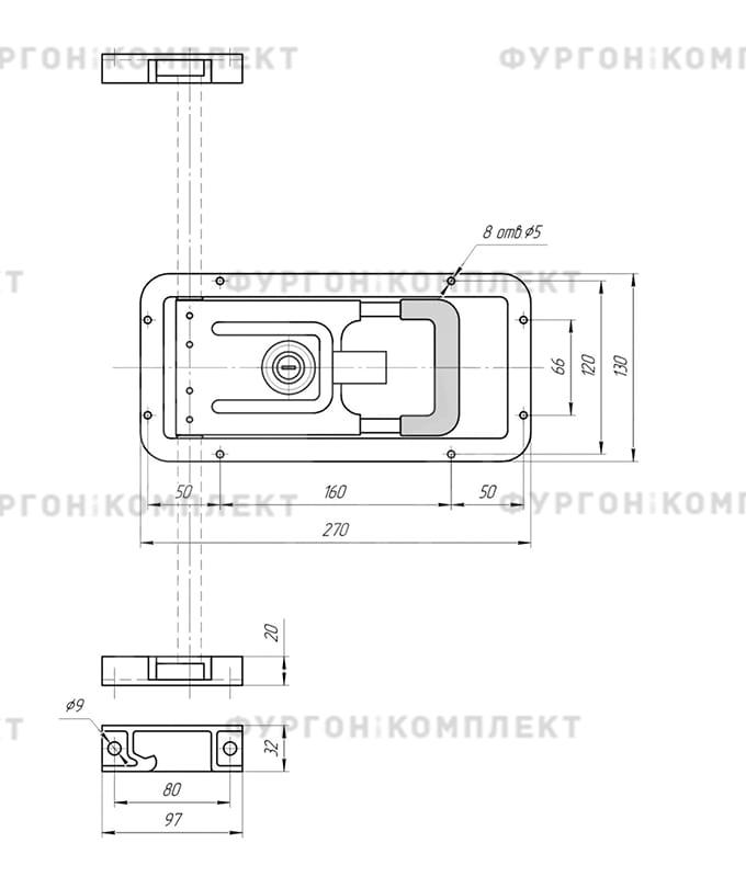 Штанговый запор (диаметр штока 15 мм)