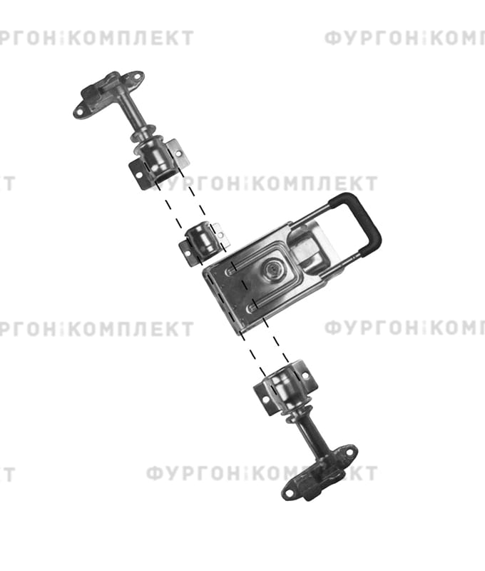 Стержневой запор с рукояткой «Push» (диаметр штанги 22 мм)