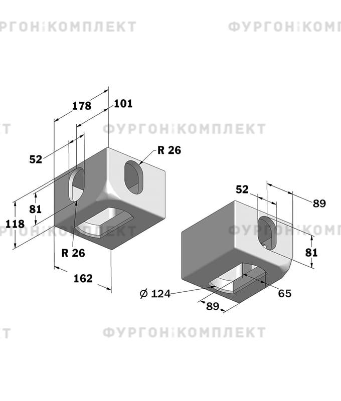 Угол контейнерный (комплект из 8 штук)