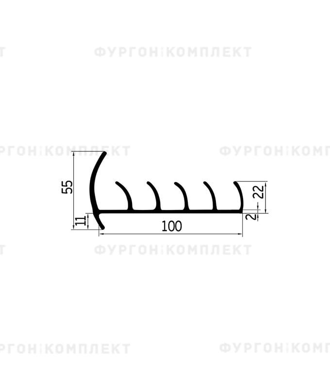 Уплотнитель резиновый → 100мм (5лепестков)