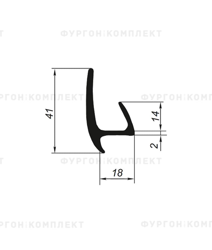 Уплотнитель резиновый → 18мм
