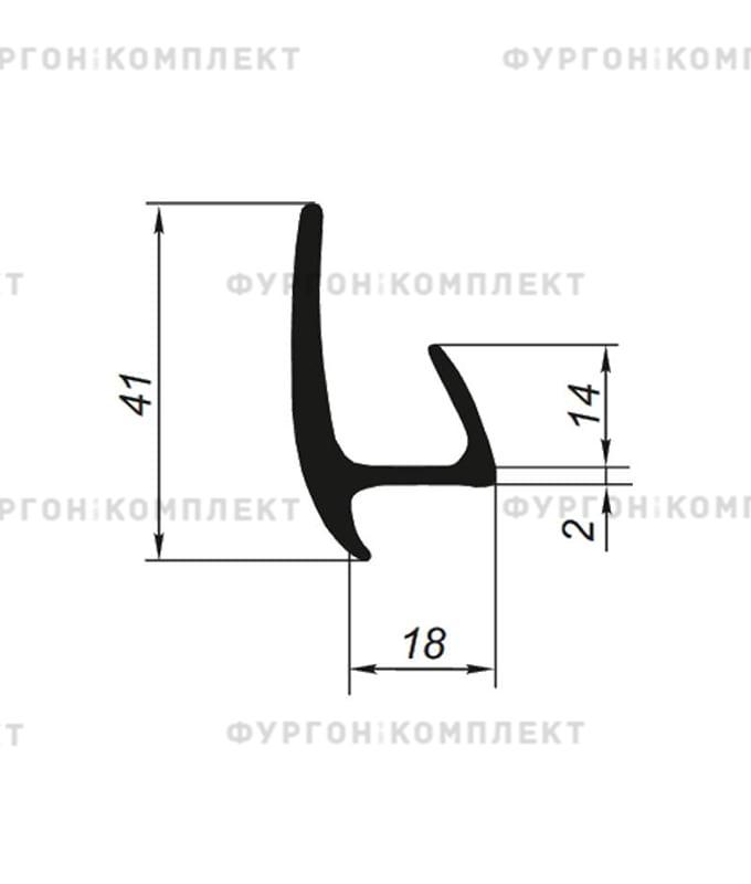 Уплотнитель резиновый (20мм, длина 2,6м)