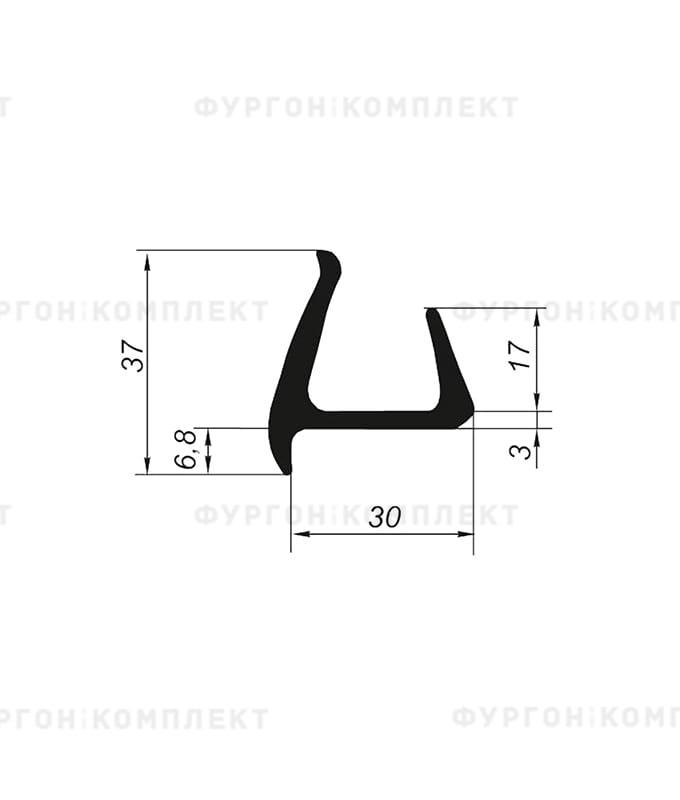 Уплотнитель резиновый → 30мм