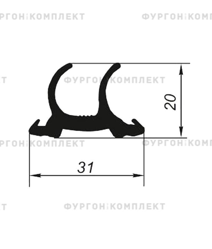 Уплотнитель резиновый → 31мм